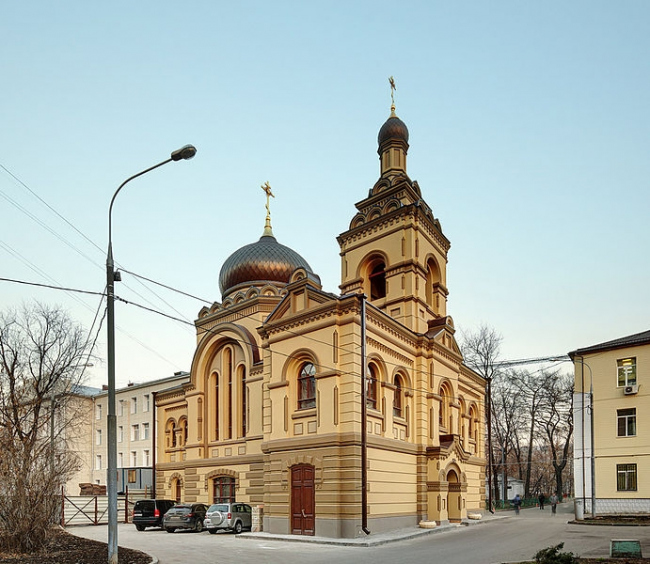 Реставрация церкви святых мучениц Софии и Татианы. Фото: Basileo T. via Wikimedia Commons. Лицензия CC-BY-SA-4.0