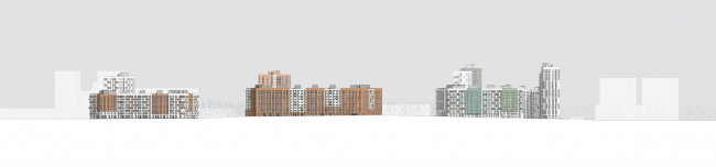 """Severny"" housing project. Development drawing © DNK ag"