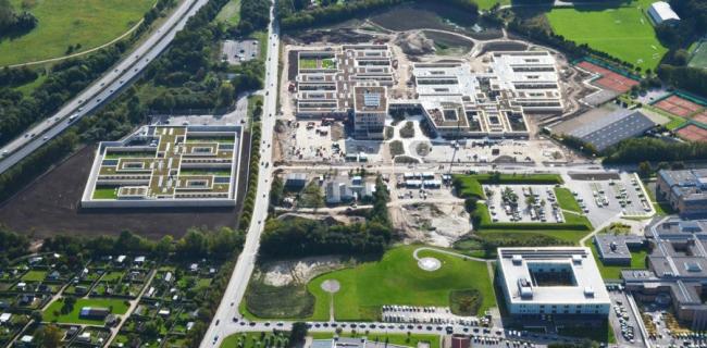 Озеленение крыш больницы в Слагельсе. Фотография © Malmos, Per Christensen
