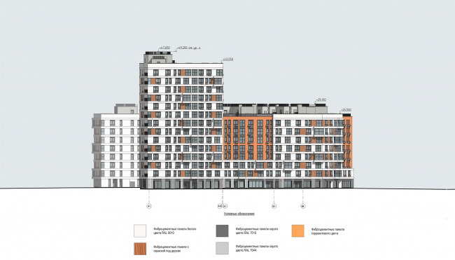 """Severny"" housing project. Facade, Unit 7 © DNK ag"
