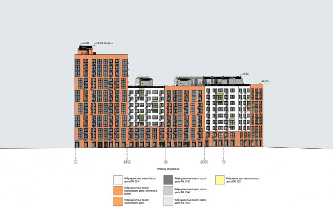 """Severny"" housing project. Facade, Unit 8 © DNK ag"
