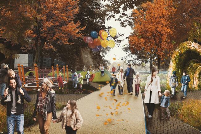 Проект новой городской набережной в Белгороде © КБ «Стрелка» + ГУП «Белоблпроект»