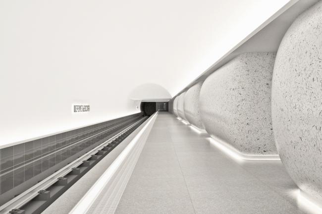 Конкурсный дизайн-проект станции «Шереметьевская». AI Architects. Изображение предоставлено Агентством стратегического развития «ЦЕНТР»