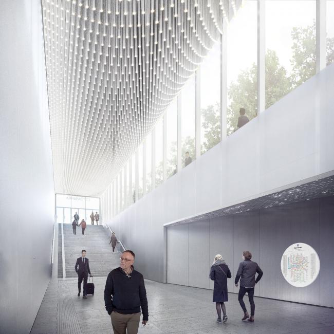 Конкурсный дизайн-проект станции «Стромынка». MAP Architects. Изображение предоставлено Агентством стратегического развития «ЦЕНТР»