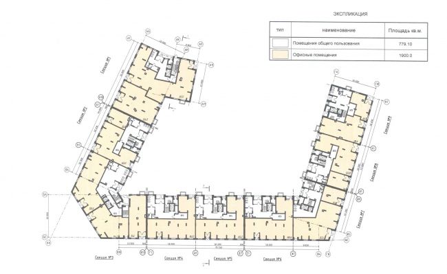 """""""Severny"""" housing project. Unit 7. Plan of the 1st floor © DNK ag"""