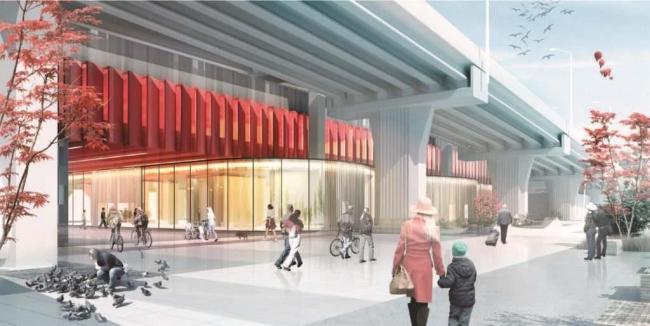 Общественное здание в составе ТПУ «СИТИ» © Моспроект-3. Предоставлено пресс-службой «Москомархитектуры»