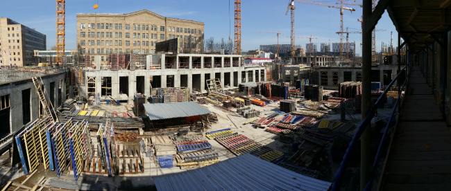 The Engineering Block. View from the construction pit of Lot№3. Photo © Eugene Gerasimov and Partners