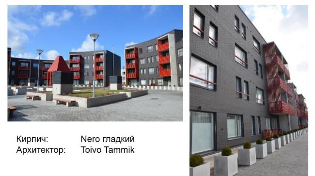 Использование фасадных кирпичей Tecra. Фотография © Wienerberger