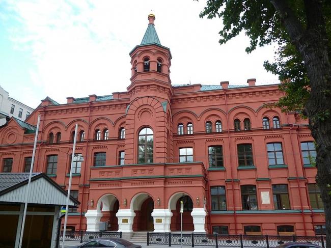 Реставрация московского епархиального дома. Фото: Andreykor via Wikimedia Commons. Лицензия CC BY-SA 4.0
