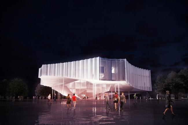 Американская цирковая академия, проект. Изображение предоставлено Höweler + Yoon Architecture