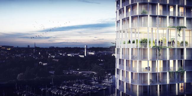 Жилая башня в Вестеросе © C.F. Møller