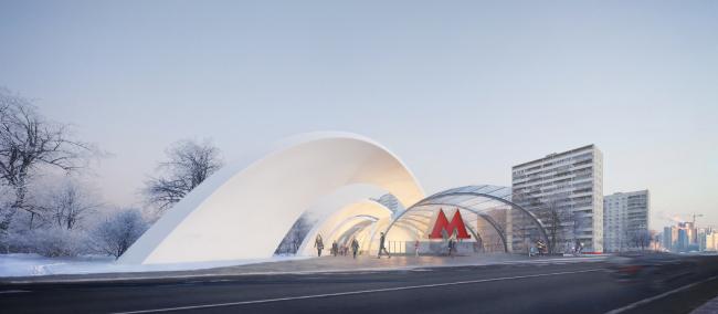 Конкурсный дизайн-проект станции «Шереметьевская». UNK Project. Изображение предоставлено Агентством стратегического развития «ЦЕНТР»