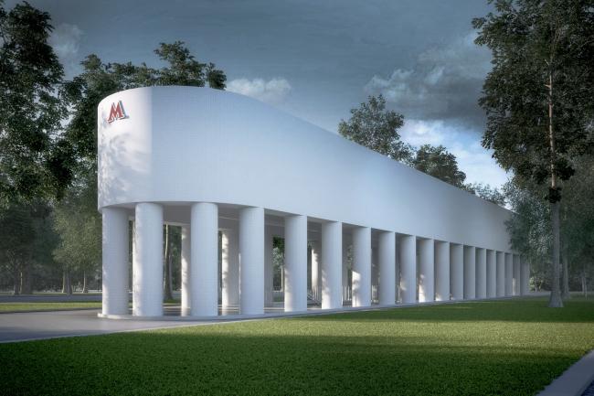 Конкурсный дизайн-проект станции «Стромынка». AI Architects. Изображение предоставлено Агентством стратегического развития «ЦЕНТР»