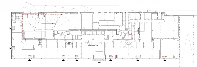 """""""Academic"""" business center. Plan of the first floor © UNK project"""