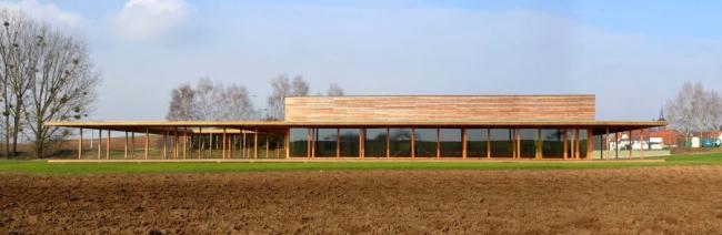 Зал собраний в деревне Унспак (Эльзас). 2012 © Heintz-Kehr Architectes
