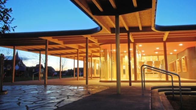 Зал собраний в деревне Киррвиллер (Эльзас). 2015 © Heintz-Kehr Architectes
