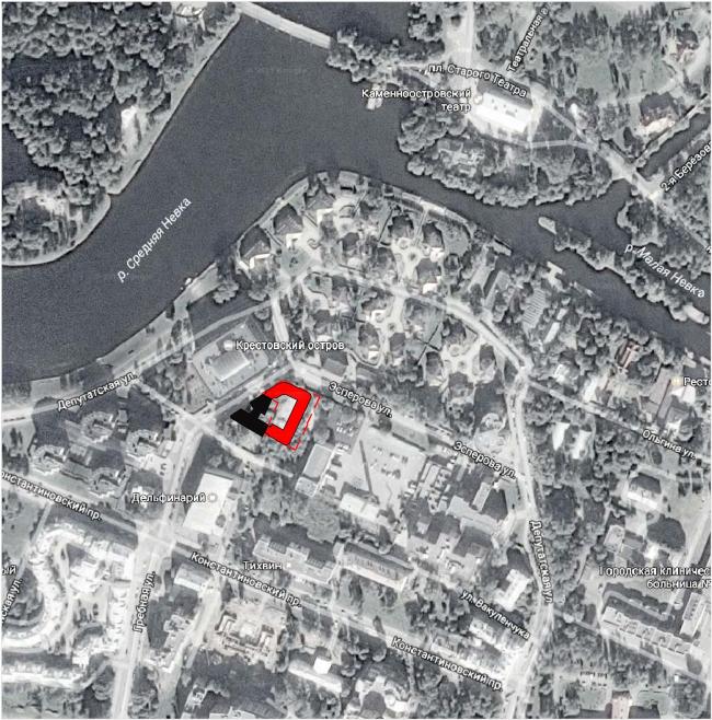 ЖК на ул. Эсперова. Ситуационный план © Архитектурная мастерская А.А. Столярчука