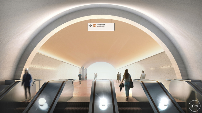 """Rzhevskaya"" metro station © Blank Architects"