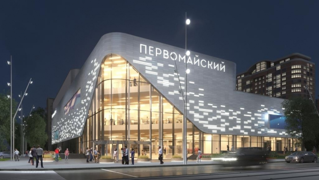 Реконструкция кинотеатра «Первомайский» © ГК «Спектрум». Предоставлено пресс-службой «Москомархитектуры»