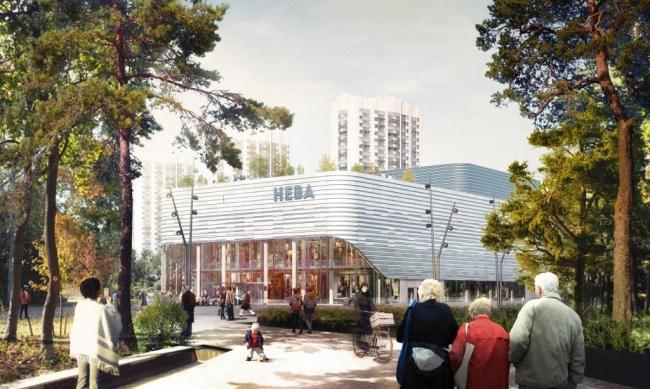 Реконструкция кинотеатра «Нева». ГАП: А.Г.Аваков. Предоставлено пресс-службой «Москомархитектуры»