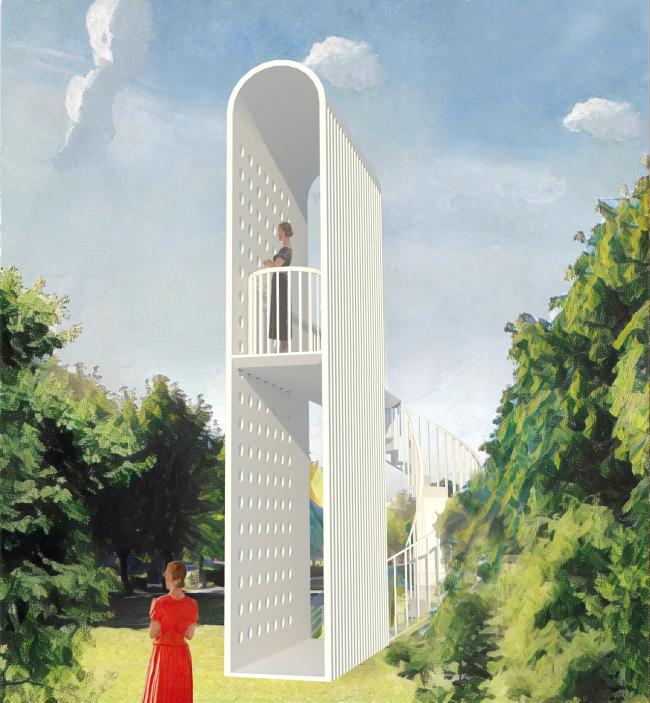 Парк пяти морей. Беседка-бельведер © Kleinewelt Architekten + Citizenstudio