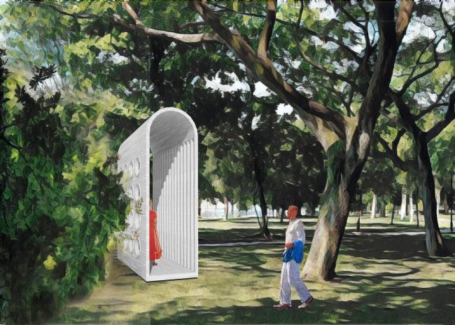 Park of Five Seas. Gazebo © Kleinewelt Architekten + Citizenstudio