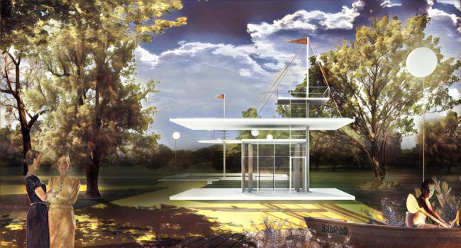 Парк пяти морей. Детская зона. Киоск © Kleinewelt Architekten + Citizenstudio