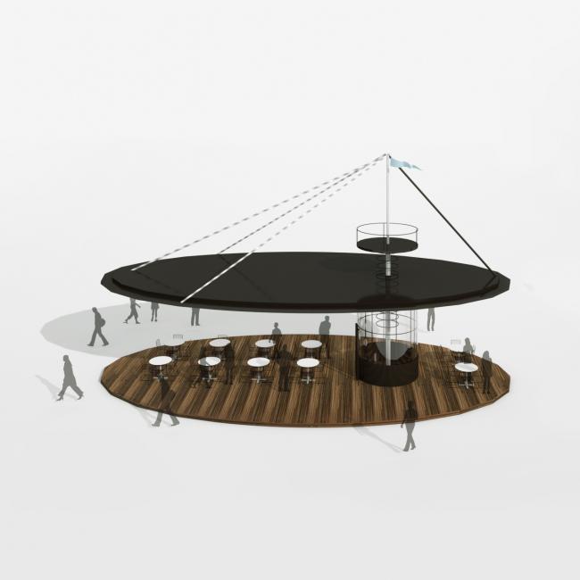Парк пяти морей. Кафе © Kleinewelt Architekten + Citizenstudio