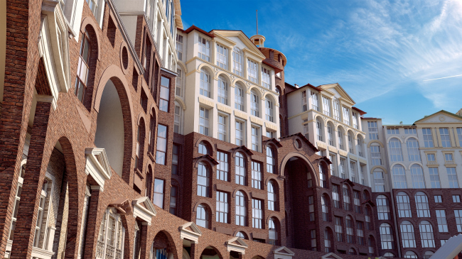 "UP-quarter ""Rimsky"". Project © Mikhail Filippov Architects"