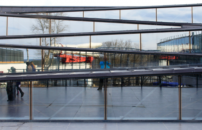 Шедовые фонари над амфитеатром. Инновационный культурный центр в Калуге. Фотография © Юлия Тарабарина, Архи.ру