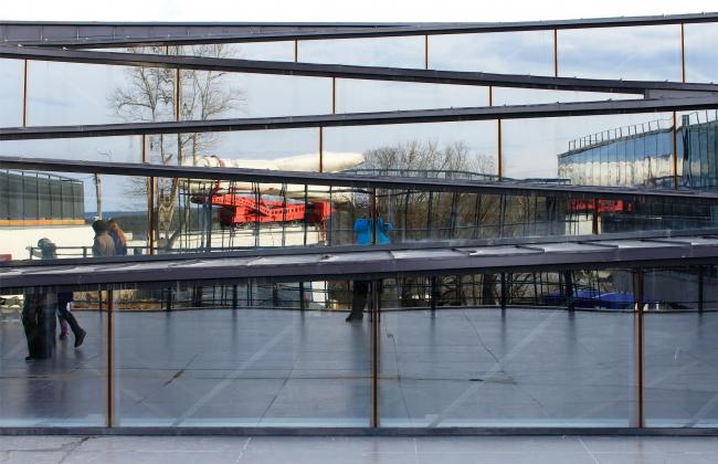 Skylights above the amphitheater. Innovation and Culture Center in Kaluga.  Photograph © Julia Tarabarina, Archi.ru