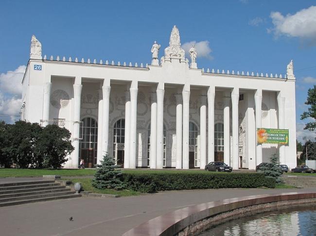 Павильон «Транспорт» («Хлопок»). Фото: Boch-boris Борис Бочарников via Wikimedia Commons. Находится в общем доступе