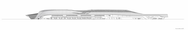 Вокзал скоростной железной дороги Неаполь – Афрагола © Zaha Hadid Architects