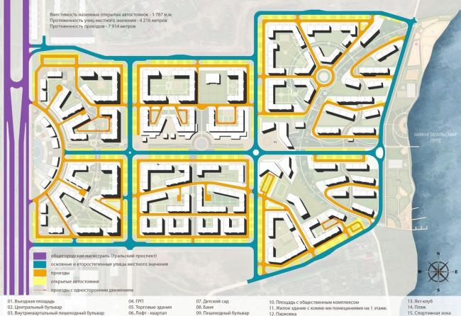 Жилой комплекс «Александровский». Схема организации решения © Архстройдизайн АСД