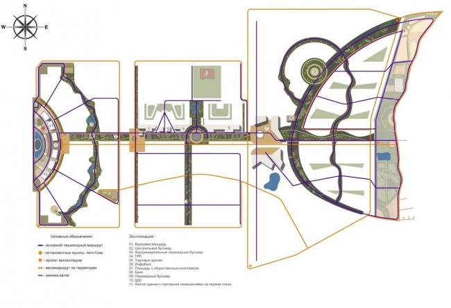 Жилой комплекс «Александровский». Схема основных рекреационных зон © Архстройдизайн АСД