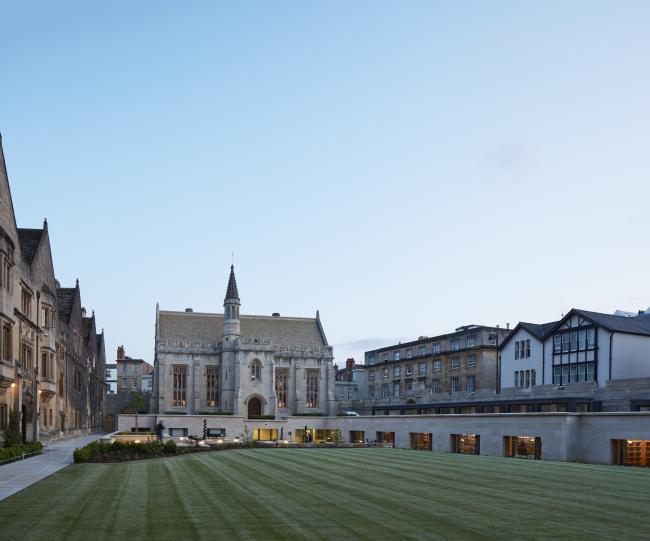 Библиотека колледжа Магдалины, Оксфорд.  Wright & Wright Architects. Фото © Dennis Gilbert