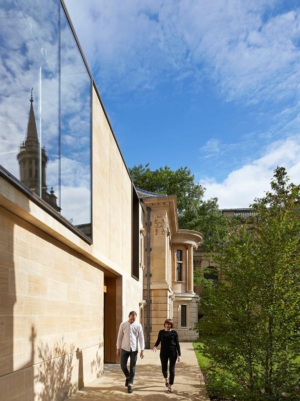 Здания Berrow Foundation и Garden Building Линкольн-колледжа , Оксфорд. Stanton Williams. Фото © Nick Hufton