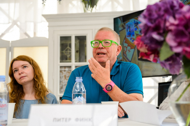 Пресс-конференция в рамках фестиваля «Московское лето. Цветочный джем», 30 июня. Фотография предоставлена организаторами конкурса
