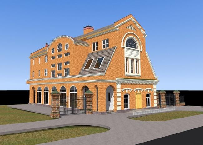 Реконструкция купеческого здания «Доходный дом». Существующее положение © Архитектурная творческая мастерская Канаева В.И. + АТМК-7