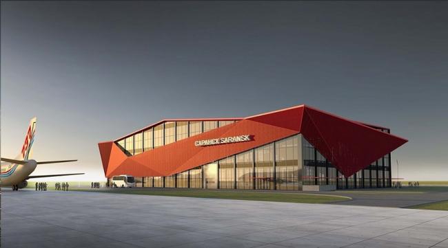 Аэровокзал в аэропорту Саранска © ФГУП ГПИ + НИИ ГА «Аэропроект»