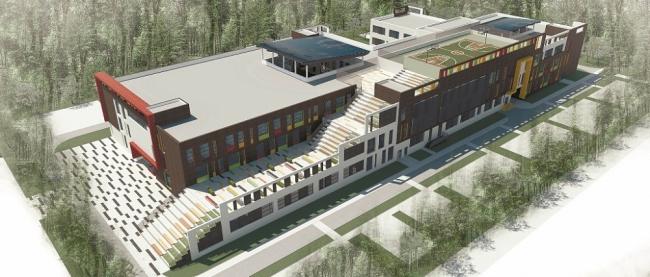 Проект типовой общеобразовательной школы на 750 учащихся © АРСТ