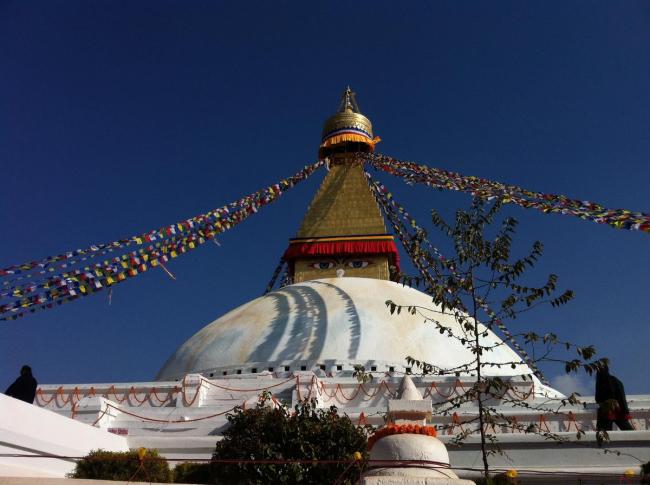 Будданатх – буддийский храм в Катманду, восстановленный местными жителями. Фото © Екатерина Михайлова