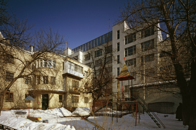 Residential buildings in the 1st Obydensky pereulok