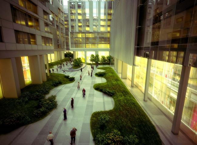 Концепция офисно-делового, торгового и развлекательного центра в пос.Сосенское © МКА