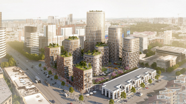 Жилой комплекс «Форум Сити» © LEVS architecten