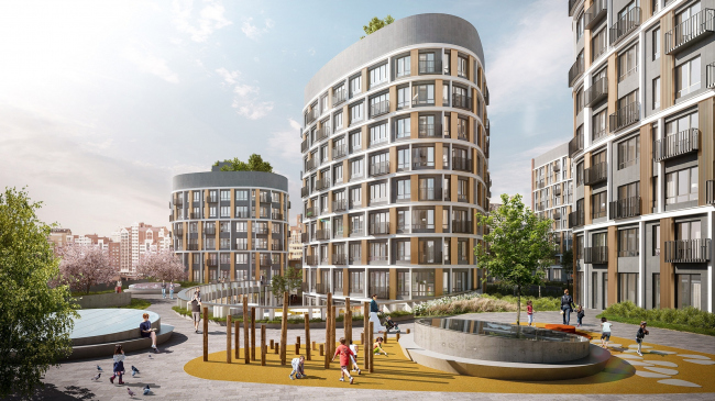 """Forum-City"" housing complex © LEVS architecten"