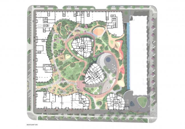 """""""Forum-City"""" housing complex -1st floor © LEVS architecten"""