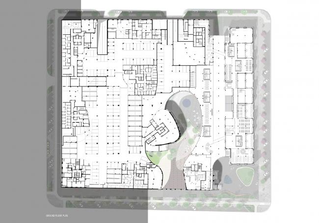"""""""Forum-City"""" housing complex. Basement © LEVS architecten"""