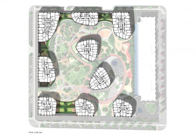 Жилой комплекс «Форум Сити». 3-4 этаж © LEVS architecten