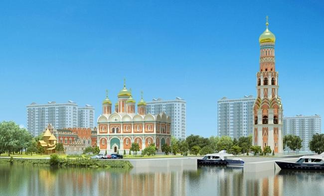 Храмовый комплекс на Москва-реке © Мастерская Дмитрия Бархина